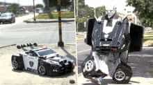 A Colombian man earns his living by becoming a Transformer