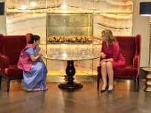 Sushma Swaraj holding bilateral talks with her Bulgarian counterpart Ekaterina Zaharieva on Saturday