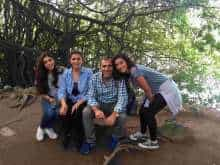 An undated family photo shows Emad Shargi, second from right, and Bahareh Amidi Shargi, second from left, with their daughters. (The Shargi Family via The New York Times)