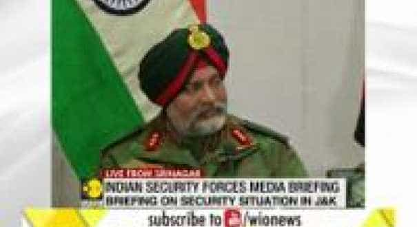 Indian Security Forces Media Briefing: 'Anyone who enters Kashmir Valley will not go back alive'