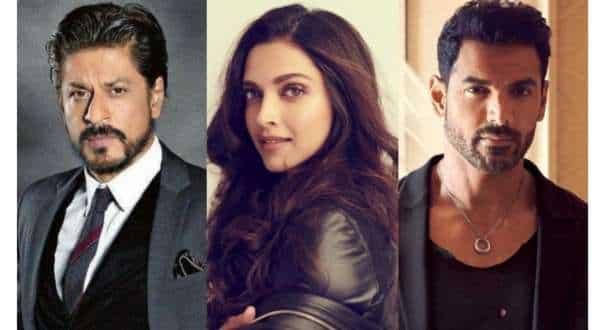Deepika Padukone, Shah Rukh Khan and John Abraham