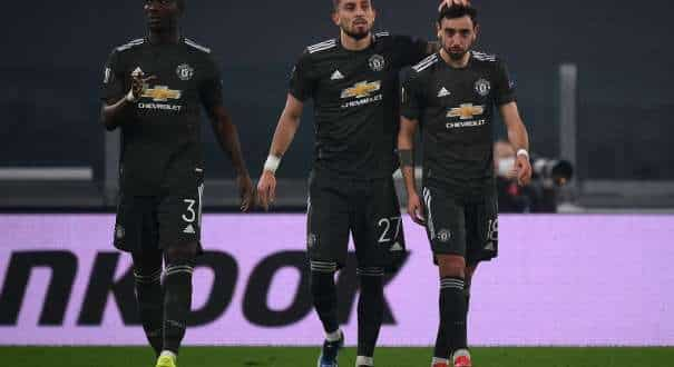 Bruno Fernandes scored twice as Manchester United romped to a 4-0 victory over Real Sociedad in their Europa League last-32 first leg on Thursday, while Gareth Bale impressed for Tottenham in a 4-1 thrashing of Austrian side Wolfsberg.