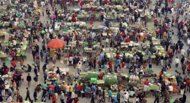A file photo of a market in China.