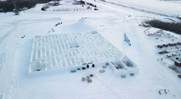 World's largest snow maze
