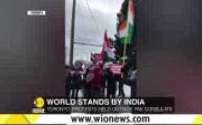 Pulwama Terror Attack: Indo-Canadians' Protest outside Pak Consulate in Toronto