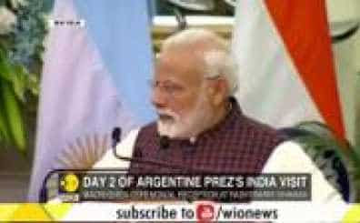 PM Modi, Argentina President hold bilateral talks at Hyderabad House in New Delhi
