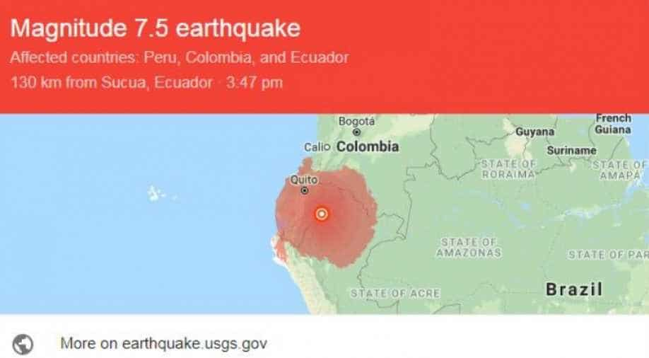Deep 7.5-magnitude natural disaster hits Peru-Ecuador border region