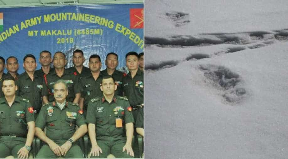 Indian Army mountaineering team shares photos of suspected Yeti footprints