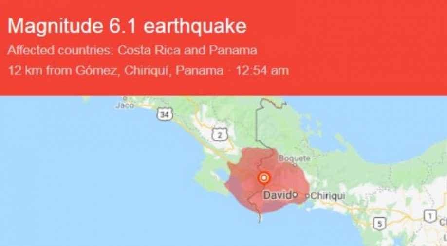 1 magnitude natural disaster strikes Panama and Costa Rica border region - USGS