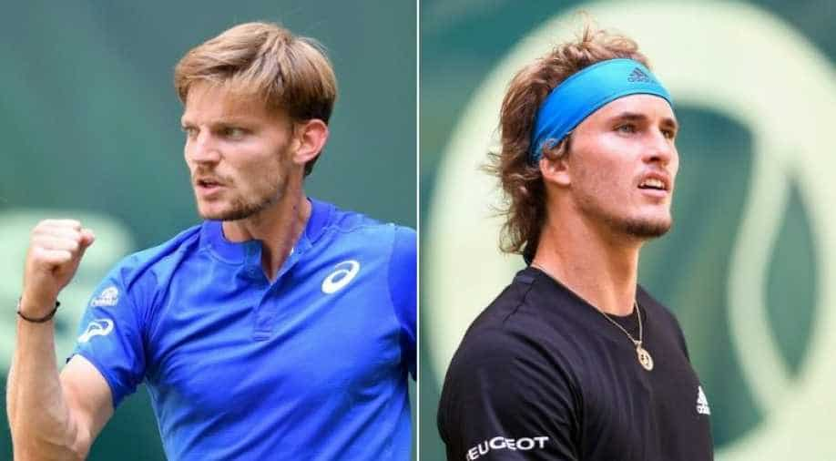 Alexander Zverev tumbles out of Halle quarters after defeat by David Goffin