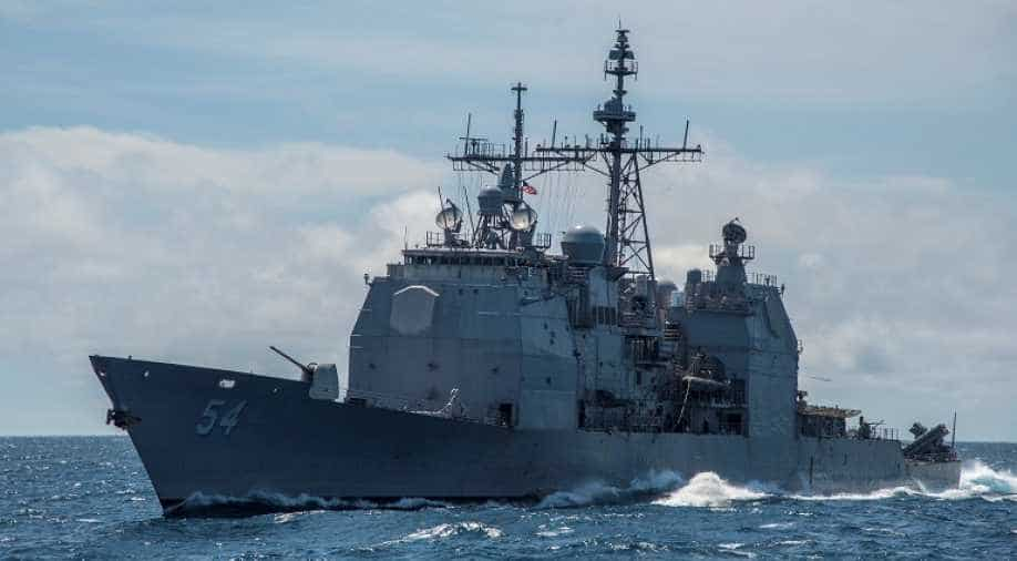 US military ship passes through strategic Taiwan Strait