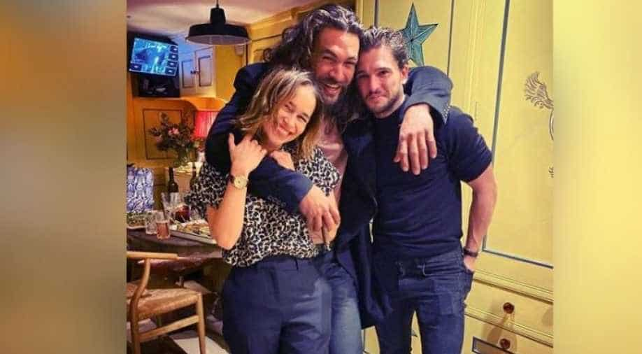 Emilia Clarke celebrates 33rd birthday with her `GOT` co-stars, see pic