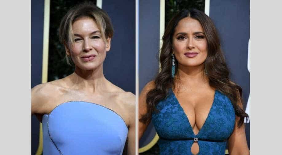 Renee Zellweger lent Salma Hayek a dress for the Oscars