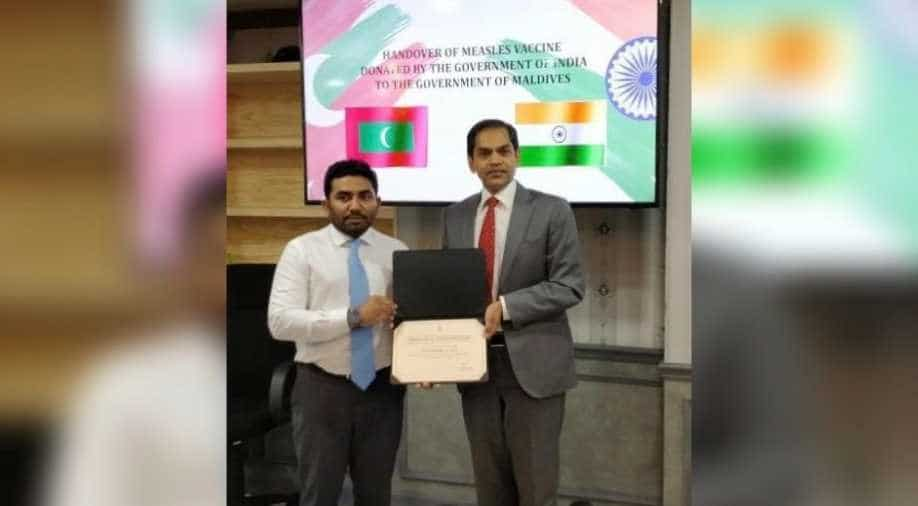 India delivers 30k doses of MR vaccine to Maldives within 72 hours