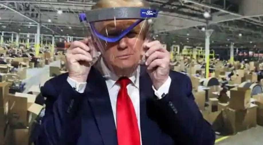 MSNBC Airs Trump Wearing Face Mask During Tour of Ford