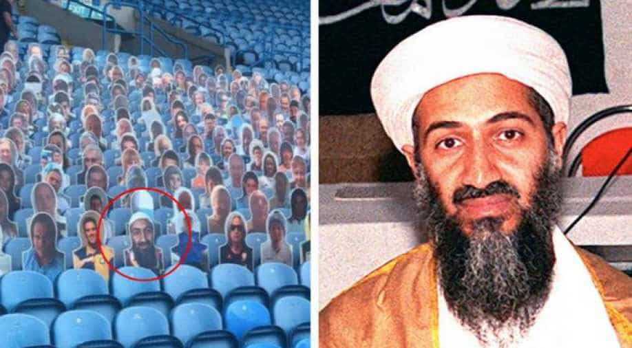 Leeds remove cardboard cutout of Osama from stands