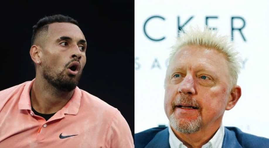 Nick Kyrgios and Boris Becker in Twitter fight after Alexander Zverev's 'partying'