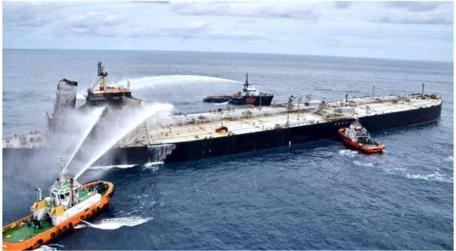 Oil tanker towed from Sri Lanka shoreline amid spill fears