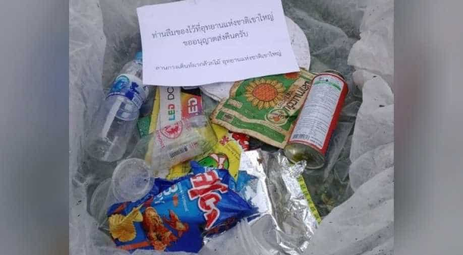 `You forgot these`: Thai national park mails trash back to tourists