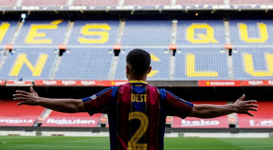 Barcelona announce signing of teenager Dest from Ajax