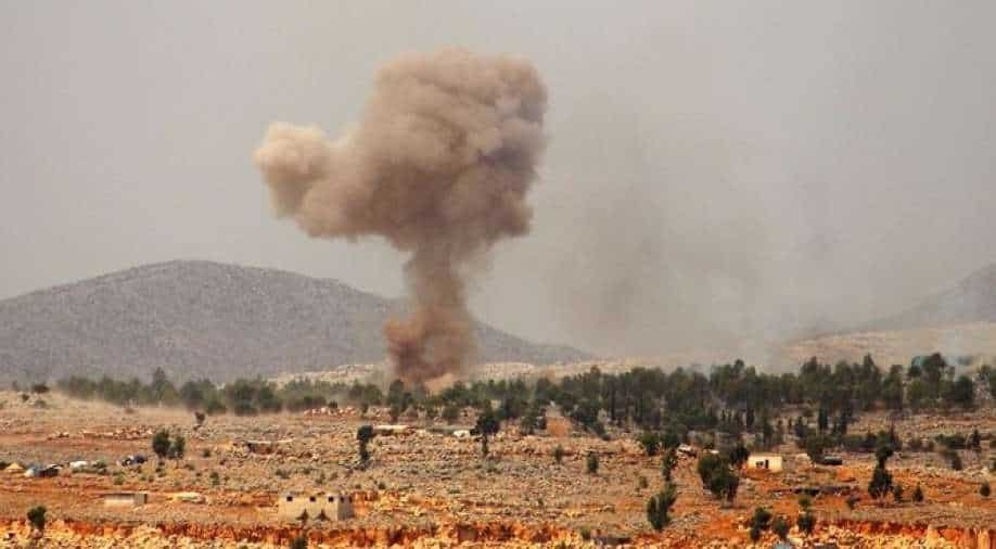 Airstrike in northwestern Syria kills 50 rebel fighters