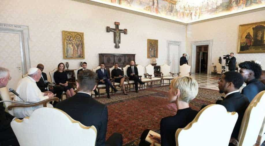 Pope Francis and National Basketball Association players discuss social justice in Vatican meeting