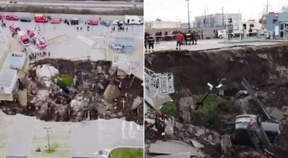 Massive Sinkhole Opens in Naples Hospital Parking Lot