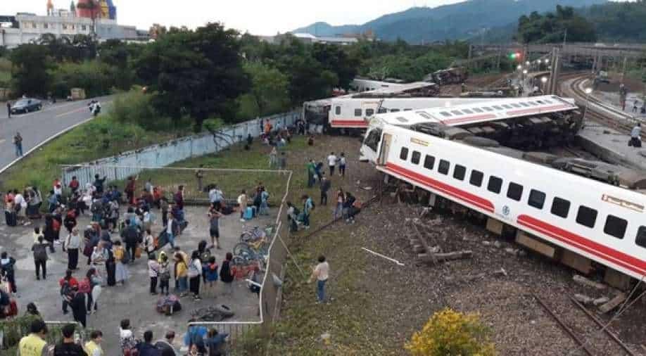 "Train derails in Taiwan, four feared dead"""