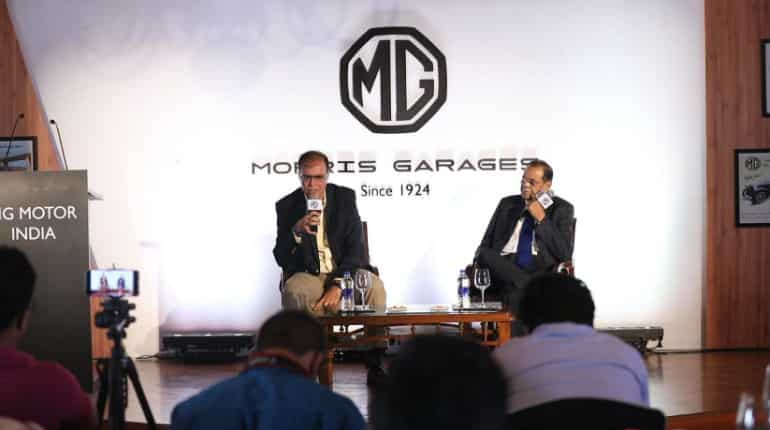 MG Motors announcing the launch in India.