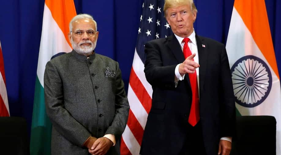Indian Prime Minister Narendra Modi with US President Donald trump.