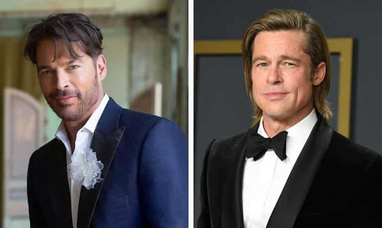 Harry Connick Jr and Brad Pitt