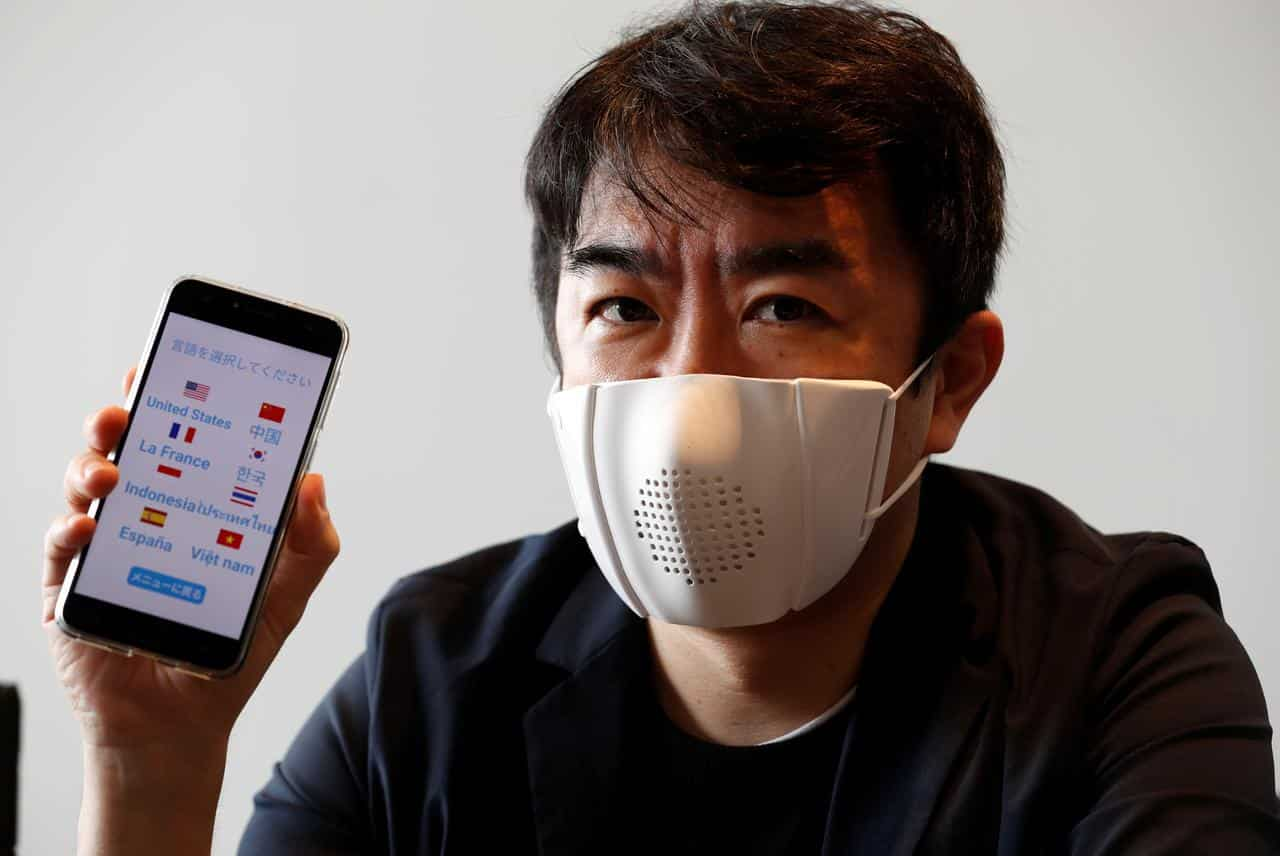Japanese startup creates internet-connected face mask for ...