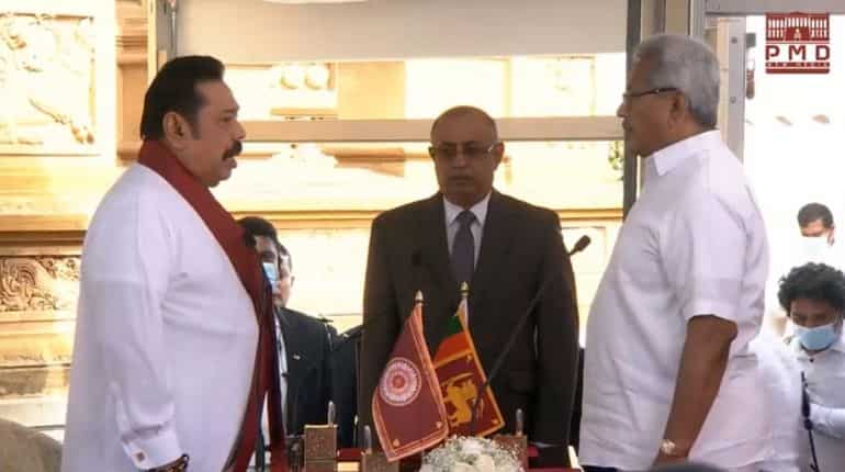 Mahinda Rajapaksa sworn in as Sri Lankan Prime Minister on Sunday morning.