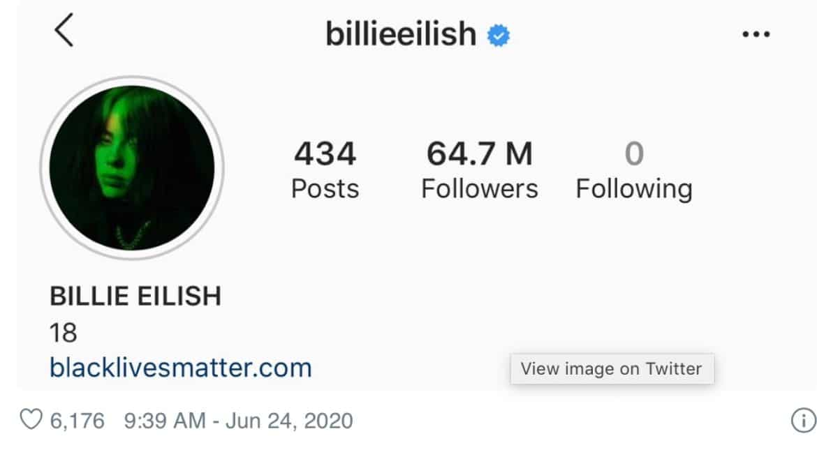 Here's why Billie Eilish just unfollowed everyone on Instagram ...