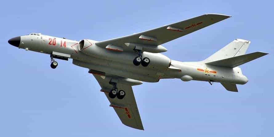 Nuclear-capable H-6 bombers