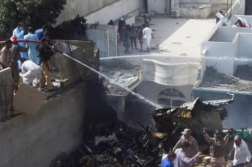 PIA plane crashes in Karachi