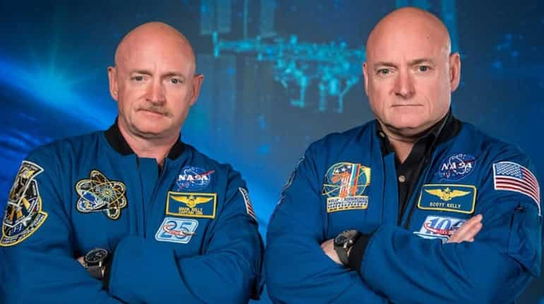 Former astronaut Scott Kelly (R) along with his twin brother, former astronaut Mark Kelly (L).