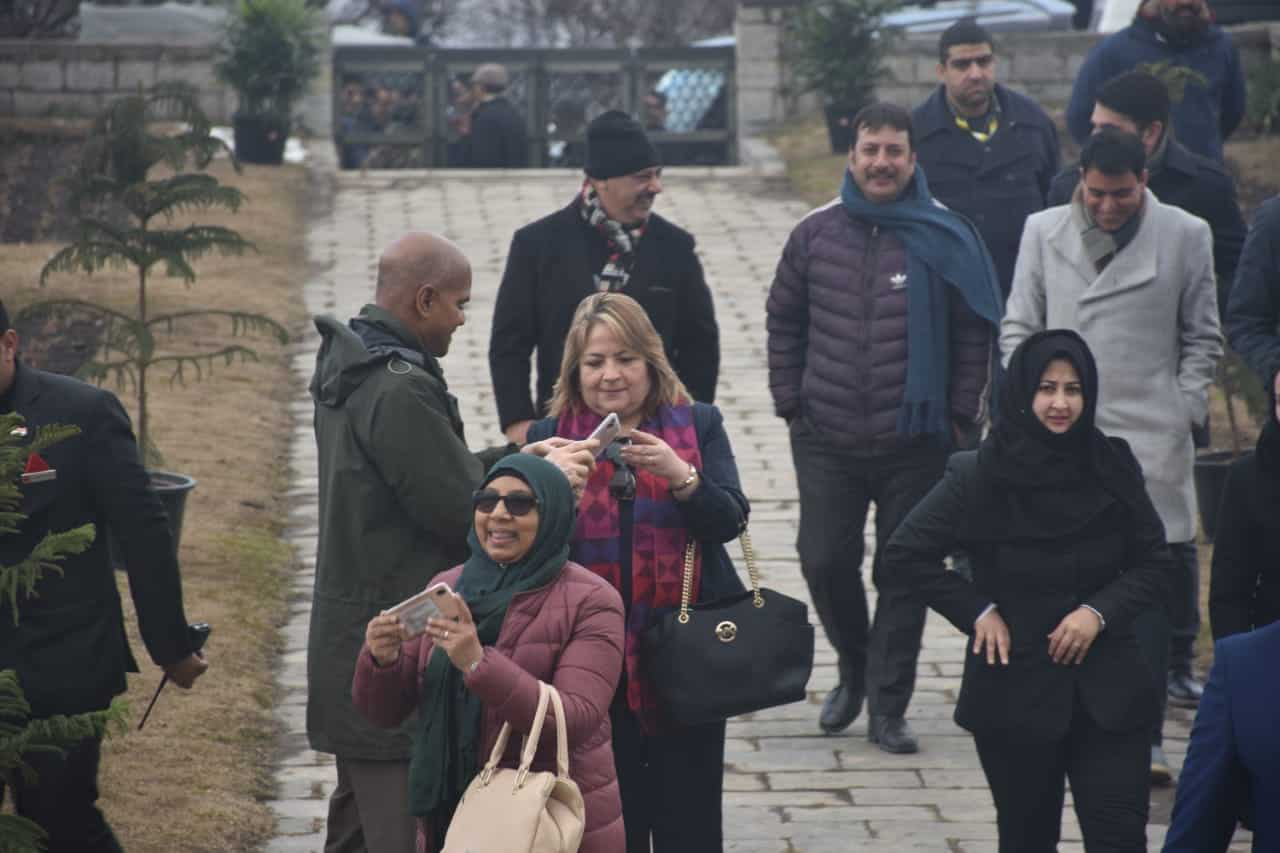 Envoys of 15 countries at at Srinagar airport