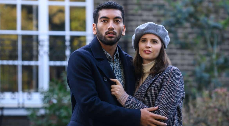 Felicity Jones and Nabhaan Rizwan share a moment