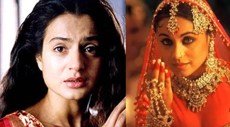 Ameesha Patel y Rani Mukherjee en 'Mangal Pandey: The Rising'