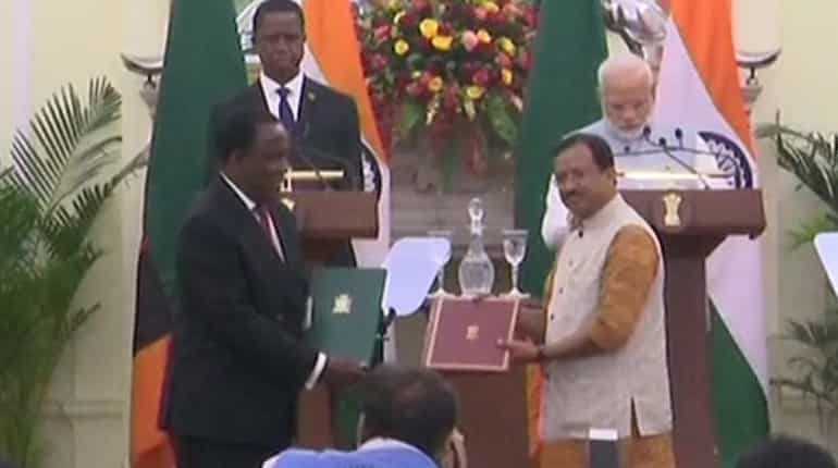 MoU between India and Zambia