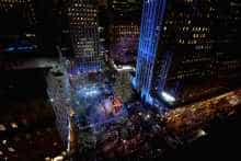 A view of the 84th Rockefeller Center Christmas tree in New York City