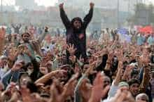 Blasphemy law supporters in Pakistan