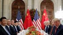 US President Donald Trump and Chinese President Xi Jinping attend a working dinner after the G20 leaders summit in Buenos Aires, Argentina.