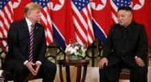 Donald Trump, Kim Jong-un at Hanoi summit, Vietnam