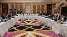 Afghan peace talks in Doha.