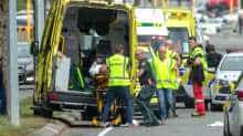 An injured person is loaded into an ambulance following a shooting at the Al Noor mosque in Christchurch, New Zealand, March 15, 2019