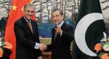 Wang Yi meets Shah Mehmood Qureshi