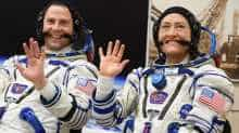 NASA astronauts Christina Hammock Koch and Nick Hague