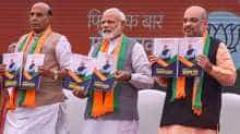 BJP releases manifesto for Lok Sabha elections 2019.